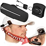 Bluetooth Earpiece with Hat Clip Accessory, Speaks Incoming Number, Promotes Safer Hands Free Driving, Earpiece Can Be Worn on Hat with Accessory or on Ear with Ear Hook, Made in USA