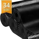 casa pura Rubber Floor Mat – Anti Slip | Suitable as Garage Floor Mat, Horse Stall Mat or Workbench Mat | Many Sizes to Choose from | Plain Rubber Sheet | 1/8' Thick - 48' x 3'