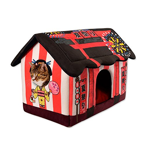 Marvelous Fladorepet Japanese Style Cat Dog Pet Bed Tent House Soft Luxury Small Dog Puppy Cave Bed Kennel Nest Indoor Winter Warm Dog Puppy House Cushion Mat Home Interior And Landscaping Synyenasavecom