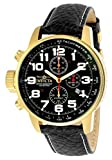 Invicta Men's 'Force' Quartz Stainless Steel and Leather Casual Watch, Color:Black (Model: INVICTA-3330)