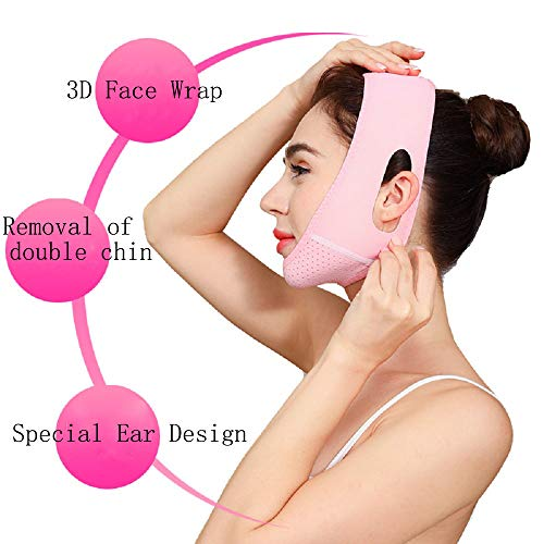 V Line Face Lift for Women Eliminates Sagging Skin Lifting Firming Anti Aging, Facial Slimming Strap, Pain Free Face Lifting Belt, Double Chin Reducer 5