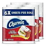 Charmin Ultra Strong Toilet Paper, 18 Super Mega Rolls