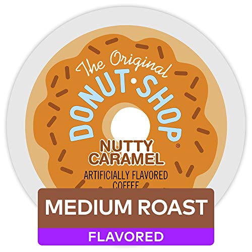 The Original Donut Shop Keurig Single-Serve K-Cup Pods, Medium Roast Coffee , Nutty Caramel, 72 count (12 count, Pack of 6)