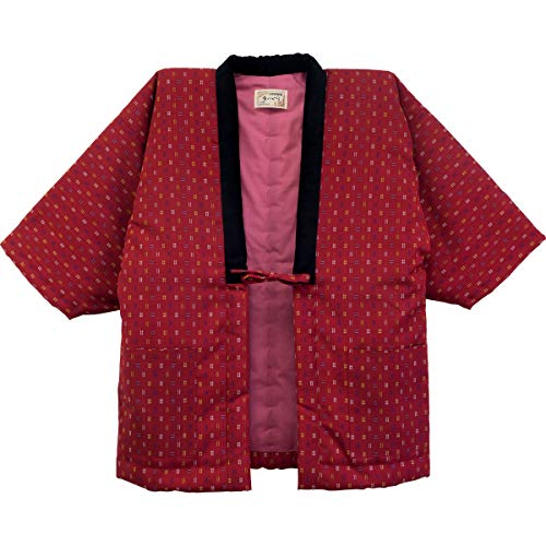 HANTEN (Cotton jacket made in Japan Kimono-style) Ladies' (Medium, 98)