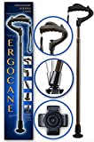 As Seen ON TV Ergocane by Ergoactives. Fully-Adjustable Ergonomic Cane (Dark Wood)