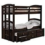 Product review for ACME Furniture 40000 Micah Bunk Bed with Trundle and 3 Drawers, Espresso, Twin over Twin