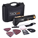 Tacklife 12V Oscillating Tool, 6 Variable Speed Lithium-Ion Cordless...