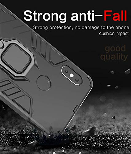 Cassby Back Cover Kickstand View Ring Holder Armor Case for Xiaomi Mi Note 10 (Black) 4