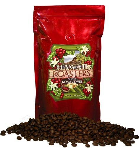 Hawaii Roasters Award Winning 100% Kona Coffee, Whole Bean, Dark Roast, 16-Ounce Bags