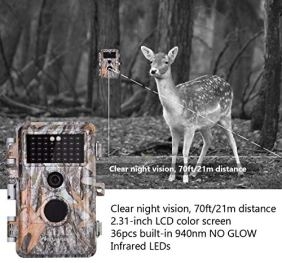 4-Pack-Game-Deer-Trail-Cameras-20MP-1080P-HD-H264-Video-for-Hunting-Wildlife-and-Home-Security-No-Glow-Night-Vision-Time-Lapse-Motion-Activated-Waterproof-Password-Protected-Photo-Video-Model