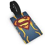 WSXEDC Luggage Tags Superman Logo Suitcase Labels Bag Tag Travel ID Identifier Baggage Tag