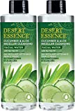 Desert Essence Cucumber and Aloe Micellar Cleansing Facial Water (Pack of 2) With Tea Tree, Cucumber and Aloe Vera, 8 fl. oz. each