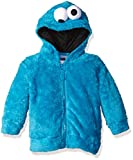 Sesame Street Toddler Boys' Fuzzy Costume Hoodie (Multiple Characters), Cookie Monster Blue, 3T