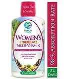 Women's Premium Liquid Multivitamin, Superfood, Herbal Blend - Anti-Aging Liquid Multivitamin for Women. 100+ Ingredients Promote Heart Health, Brain Health, Bone Health -1mo Supply