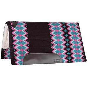 Classic Equine SensorFlex Wool Top 32 x 34 Saddle Pad Chocolate/Teal Choc/Teal 32X34