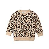 Toddler Little Baby Girl Leopard Sweatshirt Casual Long Sleeve Shirt Pullover Blouse Tops Sweater Clothes (Leopard Shirt, 4-5T)