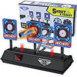 RenFox Electric Scoring Auto Reset Shooting Digital Target for Nerf Guns, Auto-Reset Intelligent Light Sound Effect Scoring Targets Toys for Kids Boys Girls