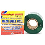 Rescue Tape | Self-Fusing Silicone Tape | Emergency Pipe & Plumbing Repair | DIY Repairs | Seal Radiator Hose Leaks | Wrap Electrical Wires | Used by US Military | 1' X 12' | Silicone Rubber