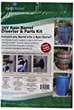 EarthMinded DIY Rain Barrel Diverter and Parts Kit for 3 x 4 Inch Rectangular Downspouts - Water Collection System to Convert Containers into Rain Barrels - Catch Rain Water for Outdoor Chores