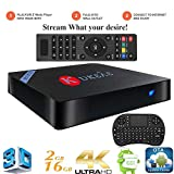 KUKELE Android TV Box, Leia 18, Streaming Media Center Player, Wireless Keyboard