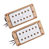 dezirZJjx Guitar Pickup, Acoustic Electric Transducer for Acoustic Guitar,6 String Humbucker Maple Wood Pickup Epihone Electric Guitar Part Accessories