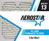Aerostar 14x16x1 MERV 13, Pleated Air Filter, 14x16x1, Box of 6, Made in The USA