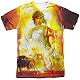 Trevco Rambo: First Blood Poster Double Sided Adult T-Shirt,  Blanco, XL