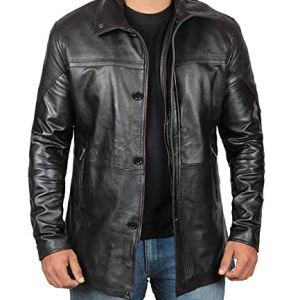 Mens Black Leather Jacket | Real Lambskin Motorcycle Jackets & Coat 12 Fashion Online Shop Gifts for her Gifts for him womens full figure
