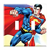 Dual Toggle Wall Switch Cover Plate Decor Wallplate - Superman Cartoon