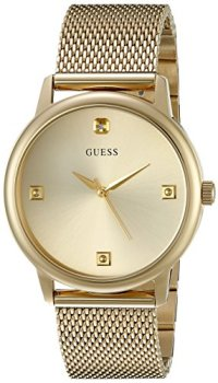 GUESS Gold-Tone Stainless Steel Genuine Diamond Dial Bracelet Watch. Color: Gold-Tone (Model: U0280G3)