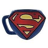 Superman Shaped Ceramic Coffee Mug - DC Comics Embossed Cup