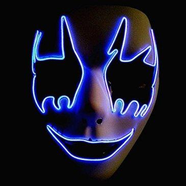 Circle Circle El Wire Glowing LED Halloween Masks (Purple)