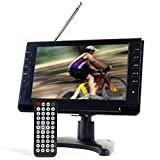 [Updated Version] Tyler TTV702-9 Portable Widescreen LCD TV with Detachable Antennas, USB/SD Card Slot, Built in Digital Tuner, and AV Inputs