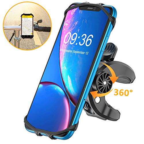 BOVON Bike Phone Mount, (Bolt Design) Sturdy Universal Motorcycle Bicycle Phone Holder Stand for iPhone XS Max/XR/X/XS/8/8 Plus/7/7 Plus, Samsung S10/S10 Plus/S10 e/S9/S8-360° Rotation