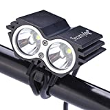 SecurityIng Waterproof 1200 Lumens LED Bicycle Light 4 Modes Super Bright Bike Lamp Headlight + 8.4V Rechargeable Battery Pack + Charger for Camping, Cycling, Hiking, Riding