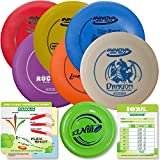 Innova Disc Golf Starter Set | Beginner Discs - 1025 Putting Game - Flight Reference Card - Driven Mini Marker | Disc Colors Vary (6 Disc Set (Colors Vary))