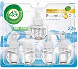 Air Wick Scented Oil 5 Refills, Fresh Linen, (5X0.67oz), Packaging May Vary, New look, Same familiar smell of fresh laundry, Air Freshener
