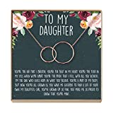 Dear Ava Daughter Necklace: Gift for Daughter, Daughter Jewelry, Mother Daughter, 2 Interlocking Circles (Rose-Gold-Plated-Brass, NA)