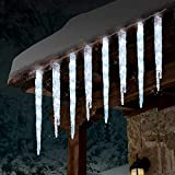 GE 19 Count Twinkling LED Ice Crystal Icicle Set 9 Feet Christmas Holiday Indoor/Outdoor Use (1)