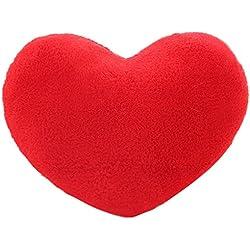 Coxeer 15 X 12 Inch Throw Pillows Heart Shape Pillow Soft Pillow with Cushion