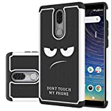 Coolpad Legacy Case, LEEGU [Shock Absorption] Dual Layer Heavy Duty Protective Silicone Plastic Cover Rugged Case for Coolpad Legacy 2019 - Don't Touch My Phone