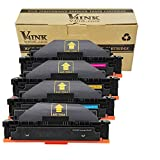 V4INK Compatible Toner Cartridge Replacement for HP 410X CF410X CF411X CF412X CF413X(KCMY, 4-Pack), for use in HP Color Laserjet Pro M452dn M452nw M452dw M377dw, MFP M477fdn M477fdw M477fnw
