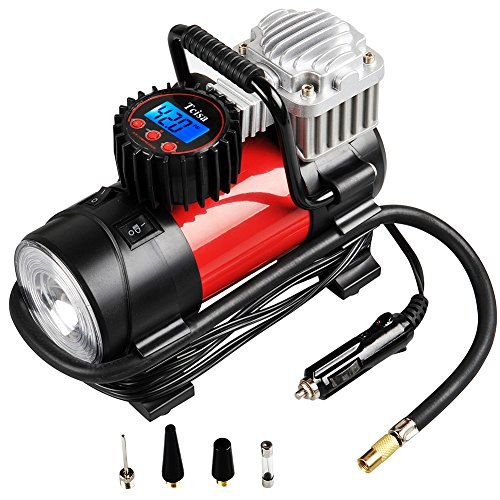 Portable Air Compressor Pump 150 PSI, Tcisa 12V 140W Auto Digital Car Tire Inflator Gauge