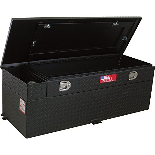 RDS Aluminum Auxiliary Fuel Tank/Toolbox Combo with Fuel Filler Shroud - 60-Gal. Capacity, Black Diamond Plate, Model# 72743PC