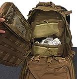 EXPLORER First aid Survival Kit Emergency Kit Earthquake Survival S.T.O.M.P Trauma Bag Car Home Work Office Boat Camping Hiking Elite Travel Stomp All-Purpose not Blackhawk (Brown Tan CT)