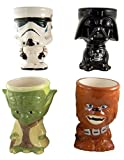Set of 4 Star Wars Collectible Cups Yoda Chewbacca Darth Vader Stormtropper 10oz Drink Goblet