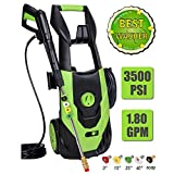PowRyte Elite 3500 PSI 1.80 GPM Electric Pressure Washer, Electric Power Washer with 5 Quick-Connect Spray Tips, Portable Car Wash Machine