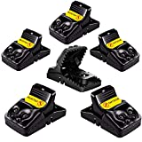 ABC Humane Mouse Traps That Work Indoor Plastic Snap Mice Trap Reusable Mouse Trap Easy Set 6 Pack