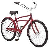 Schwinn Huron Men's Cruiser Bike, Featuring 17-Inch/Medium Steel Frame, Three-Speed Drivetrain, Full Front and Rear Fenders, and 26-Inch Wheels, Red