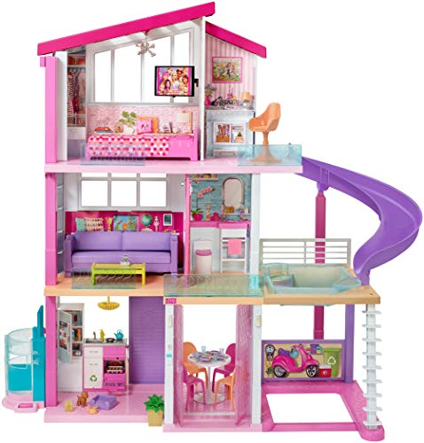 Barbie Dream House Playset Dollhouse Girls Kids Toy Furniture Accessory Pink